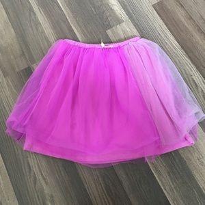 Girls Crewcuts Magenta Tulle Skirt